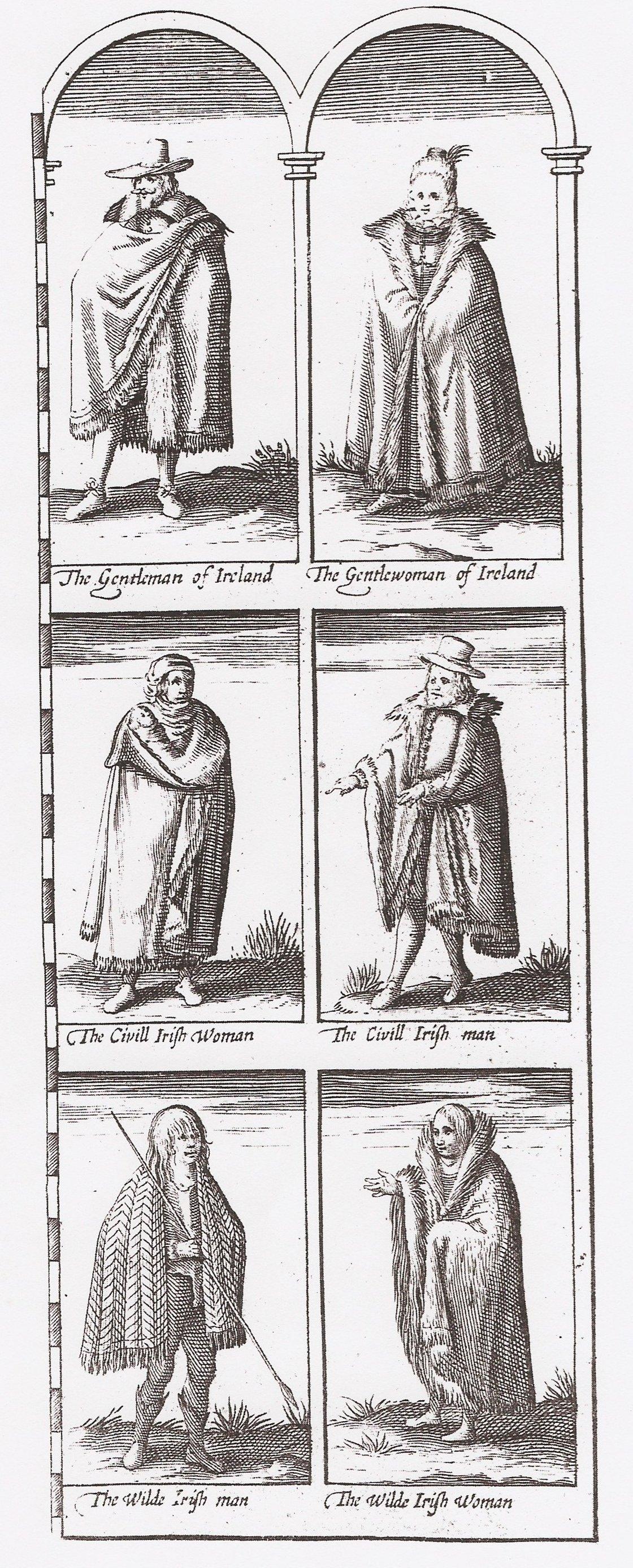 John Speed Map Of Ireland.Gentle Civill Wilde And Irish Irish Historical Textiles